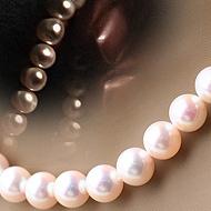 あこや真珠 準花珠パールネックレス8.5-9mm珠