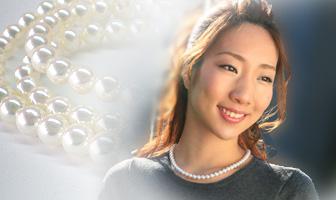 あこや真珠 準花珠パールネックレス 6.5-7mm珠