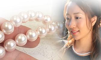 あこや真珠 準花珠パールネックレス 7-7.5mm珠